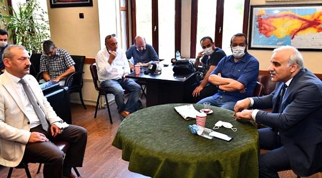 Başkan Zorluoğlu Trabzon Gazeteciler Cemiyeti'ni ziyaret etti