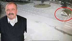 Trabzon'da bir kişinin ölümüne neden olan kaza kamerada...