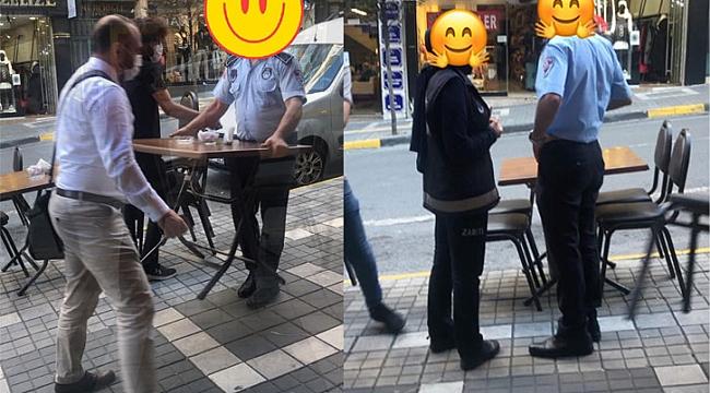 Gazipaşa Caddesi'ndeki masa sandalyeyi değil, park eden araçları kaldırın