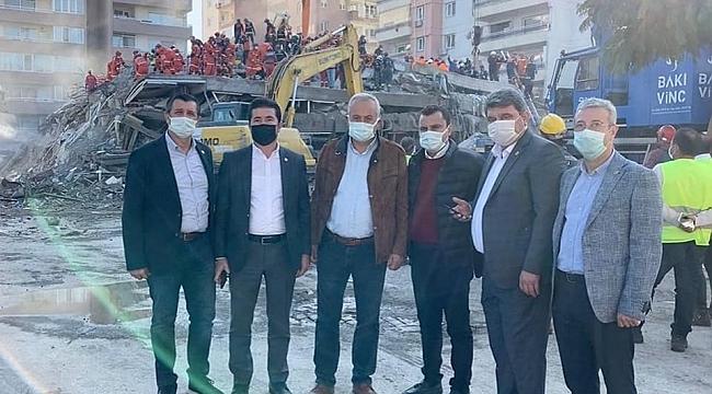 CHP Trabzon Milletvekili Ahmet Kaya, deprem bölgesinde...
