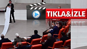 CHP Trabzon Milletvekili Kaya'nın bu hareketi meclise damga vurdu (tıkla-izle)