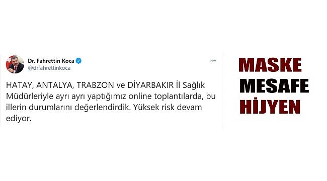 Fahrettin Koca açıkladı: Trabzon'da vaka sayısı ...