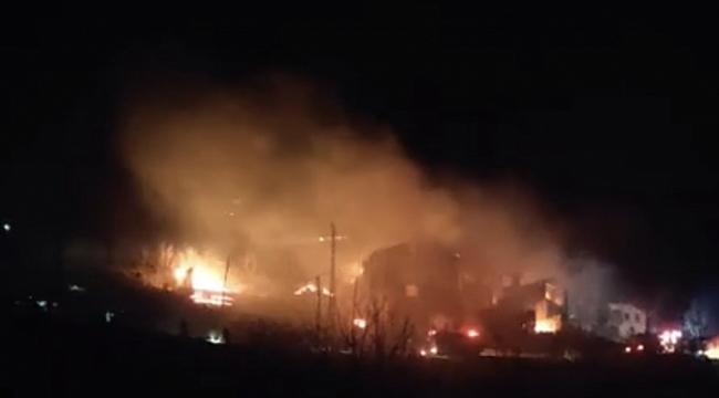Araklı'da büyük yandın: 6 ev yandı