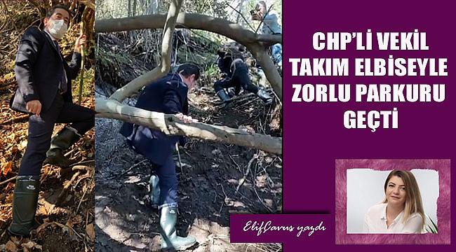 CHP'li vekil Ahmet Kaya çizmesini giydi, eline fındık çubuğu aldı ve...