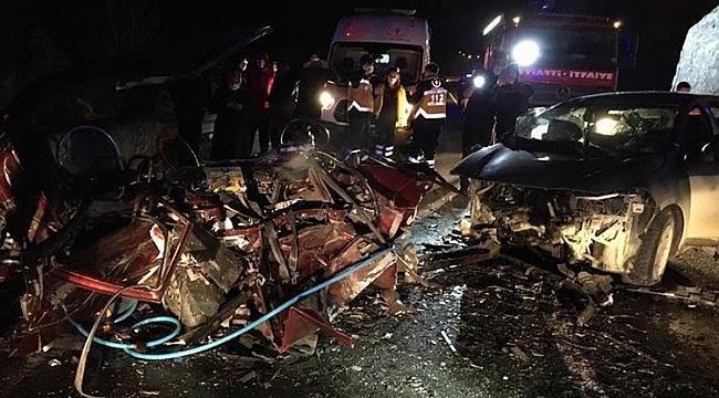 Trabzon'da korkunç kaza! Araçlar hurdaya döndü