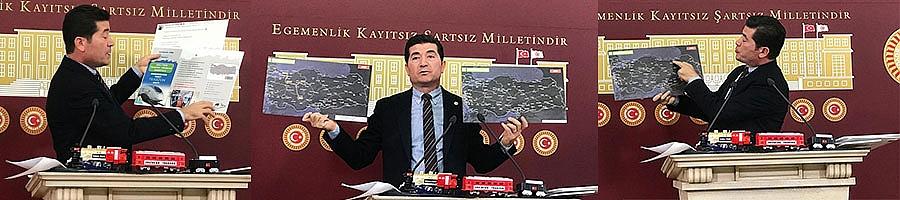 CHP'li vekil Kaya, Demiryolu kandırmacasını belgeleriyle ortaya koydu