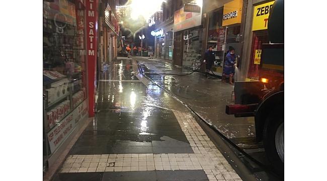 Trabzon'un sokakları temizleniyor