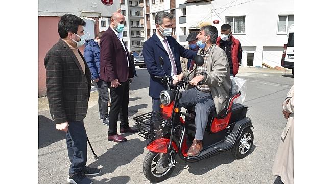 Mumcu engelli vatandaş Levent Baytar'ın hayalini gerçekleştirdi