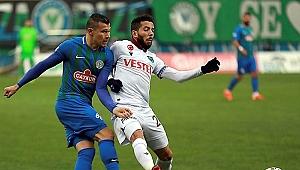 Rize'de kazanan yok! Trabzonspor zirve yarışında yara aldı...