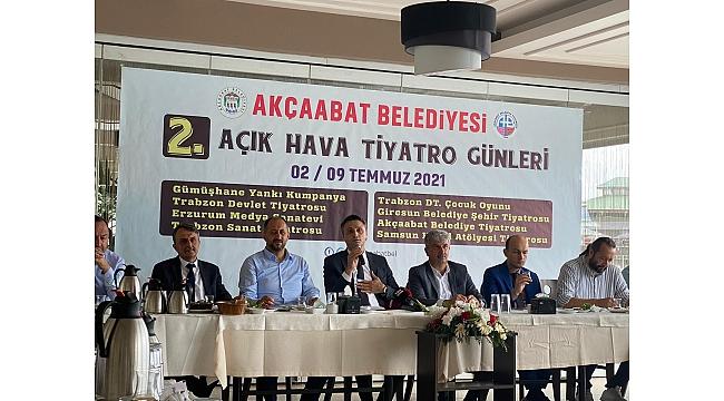 Akçaabat Belediyesi 2.Açıkhava Tiyatro Günleri Başlıyor