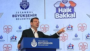 Ekrem İmamoğlu, belediyenin yeni projesi 'Halk Bakkal'ı tanıttı