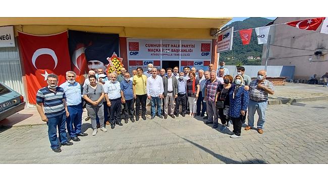 CHP Maçka'da Atasu Mahalle Temsilciliği'nin Açılışını Yaptı
