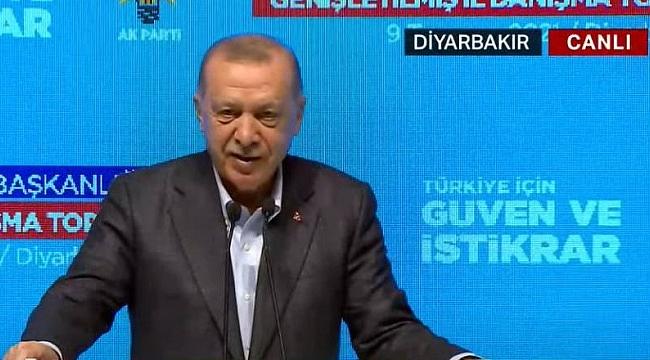 Diyarbakır'da 'Biji Serok Erdoğan' sloganları