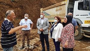 İYİ Parti Trabzon Milletvekili Örs, afet bölgesinde
