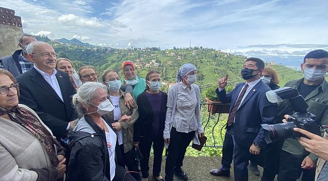 CHP Genel Başkanı Kenal Kılıçdaroğlu, Rize'de çay ğreticileri ile buluştu