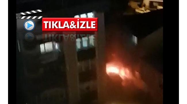 Trabzon'da bir araç alev aldı