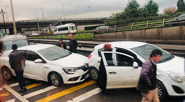 Trabzon'da 10 araç birbirine girdi