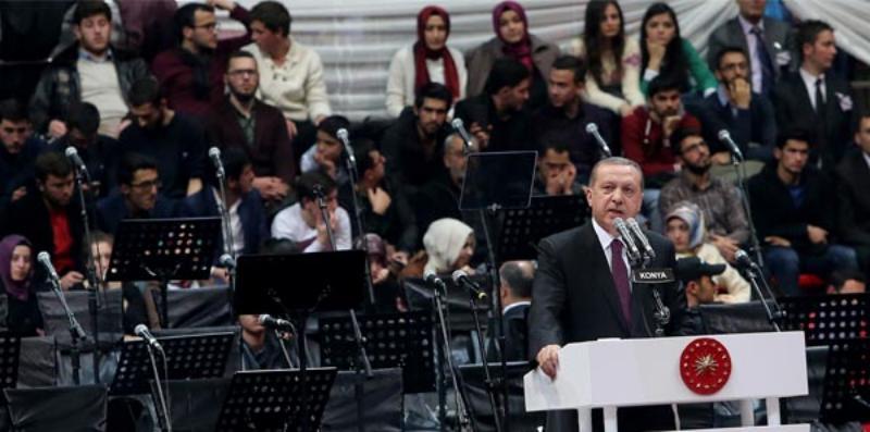 Erdoğan: Mevlana, maskeyle gezen sahte din rehberleri konusunda bizi uyardı