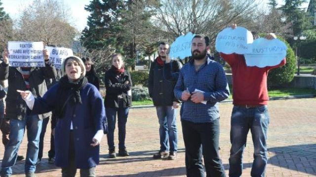 Ktü' de Öğrencilerden Rektöre Suçlama