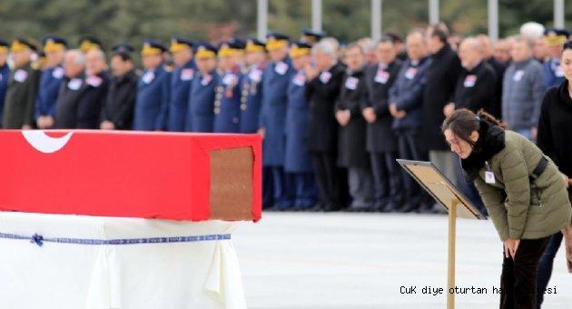 Konya'da Şehit Düşen Pilotlara Veda Töreni
