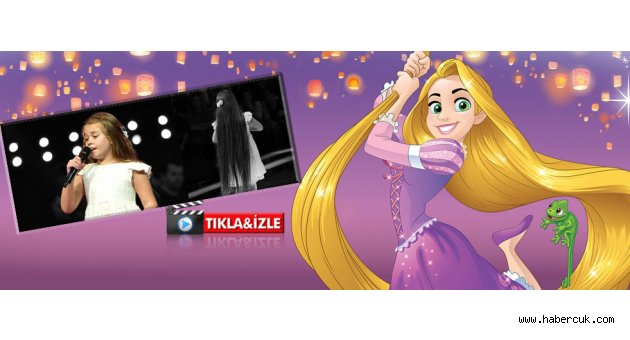 O Ses Çocuklar yarışmasında Trabzonlu Tanem Rapunzel'e benzetildi