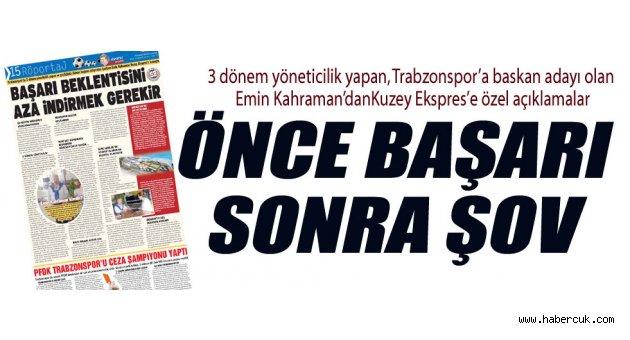 Trabzonspor'da başarı beklentisi aza inmeli