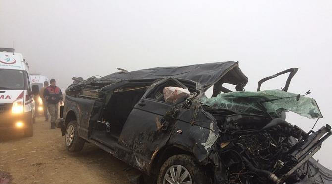 Çaykara´da kaza: 2 ölü, 2 yaralı