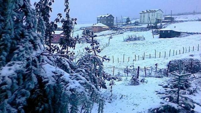 Trabzon'a yılın ilk karı yağdı