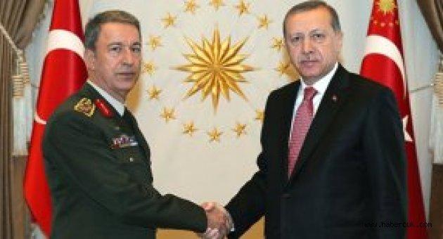 YAŞ Sonrası Org. Akar ve Kuvvet Komutanları Erdoğan'la Görüştü