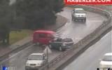 Trabzon'da Kazalar Mobese Kameralarına Yansıdı