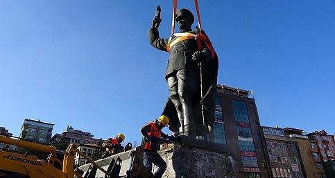 Rize'de Atatürk büstü kaldırıldı