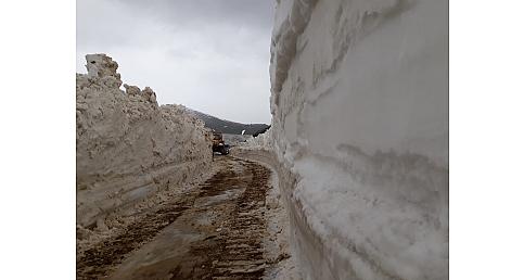 Trabzon yaylalarında karla mücadele var