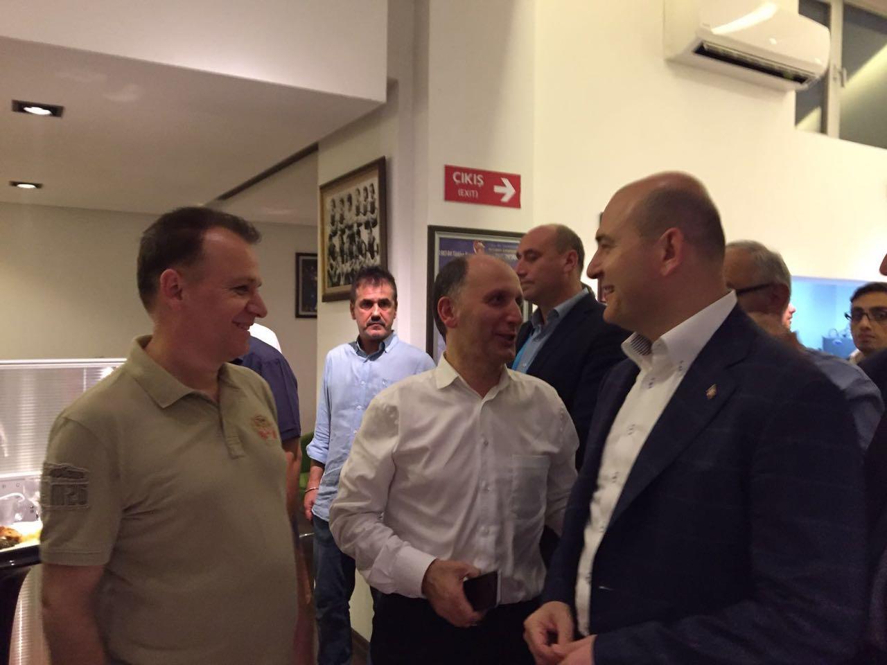 Trabzonspor'un galibiyetinin ardından Süleyman Soylu ve Muharrem Usta