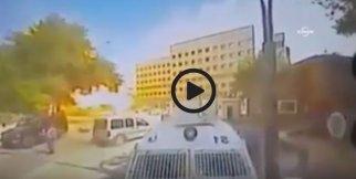 Gaziantep'teki bomba yüklü araç patlama anı kamerada